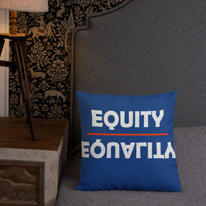 WYSP - Equity Over Equality - Red & Blue - Premium Pillow