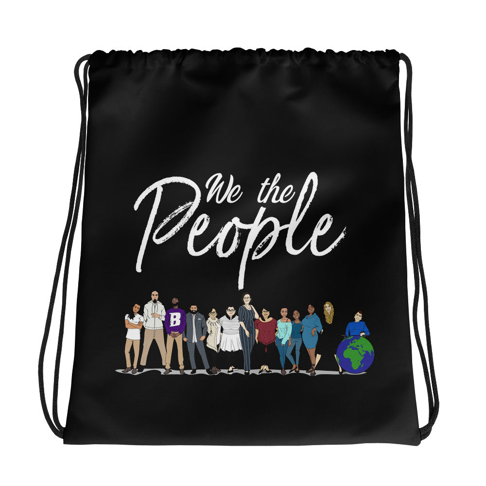 We the People - Bold - White - Drawstring bag