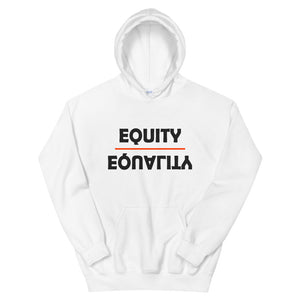 Equity Over Equality - Bold - White - Hooded Sweatshirt