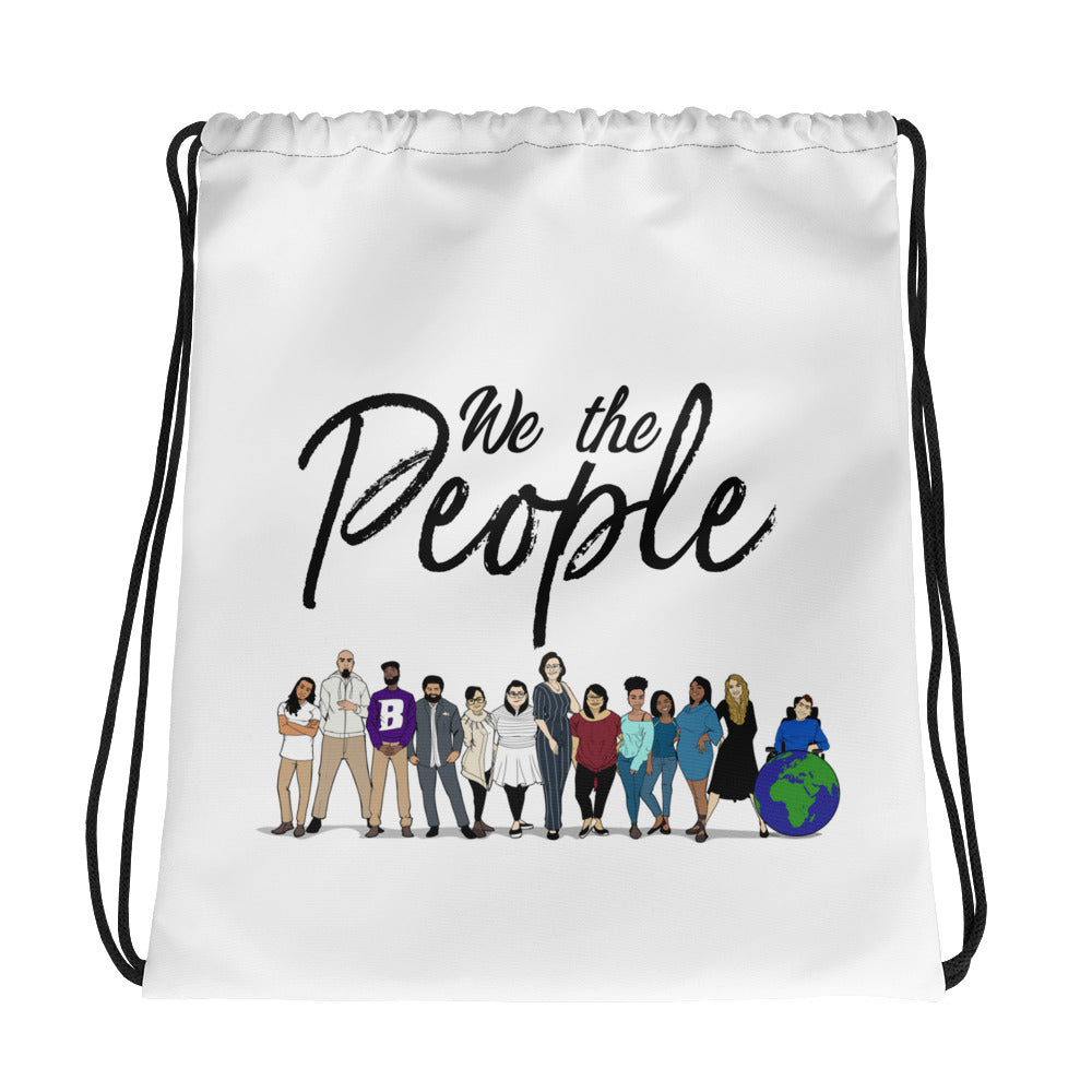 We the People - Bold - Black - Drawstring bag