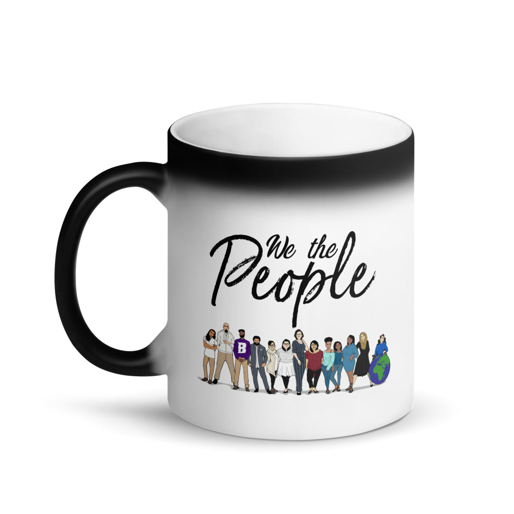 We the People - Matte Black Magic Mug