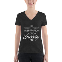 Load image into Gallery viewer, Inspiration Action Success - Women's Fashion Deep V-neck Tee