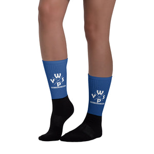 WYSP - What's Your Soul Purpose? - Ozark - Blue & Black Foot Sublimated Socks