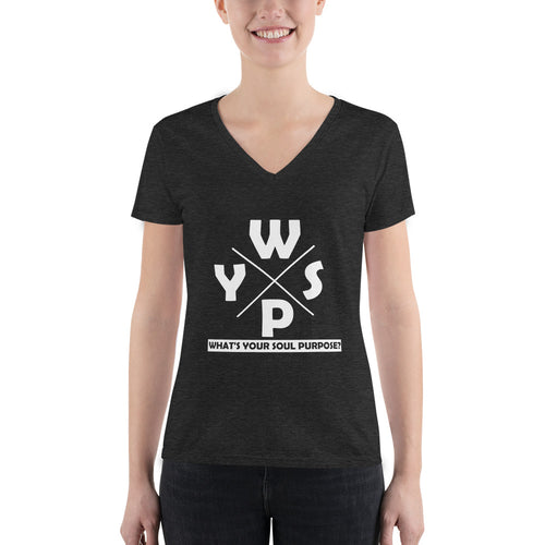 WYSP - What's Your Soul Purpose? - Ozark - Women's Fashion Deep V-neck Tee