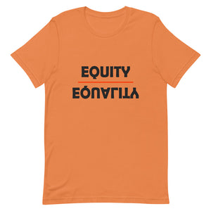 Equity Over Equality - Bold - Black - Short-Sleeve Unisex T-Shirt
