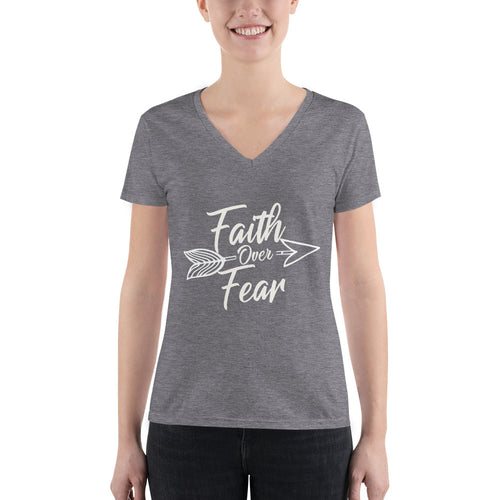Faith Over Fear - Women's V-neck Tee