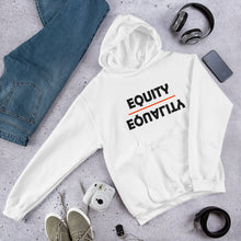 Load image into Gallery viewer, Equity Over Equality - Bold - Black - Hooded Sweatshirt