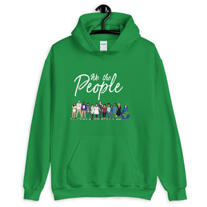 We the People - Bold - White - Hooded Sweatshirt