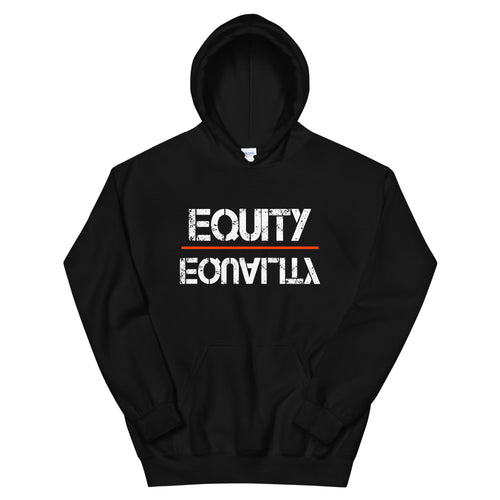 Equity Over Equality - White - Hooded Sweatshirt