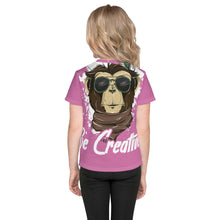 Load image into Gallery viewer, Be Creative - All Over - Pink - Kids T-Shirt