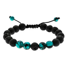 Load image into Gallery viewer, Calming Adjustable Lava Stone Protection, Energy, Healing Bracelet
