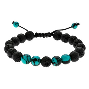 Calming Adjustable Lava Stone Protection, Energy, Healing Bracelet