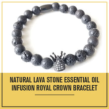 Load image into Gallery viewer, Lava Rock Bracelet Diffuser Bracelet Crown Bracelet