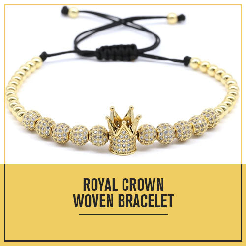 Royal Crown Woven Bracelet