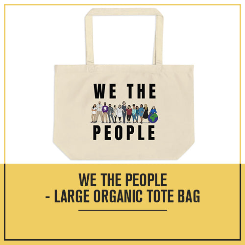We The People - Large organic tote bag