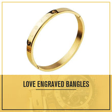 Load image into Gallery viewer, Engraved Love Bangle