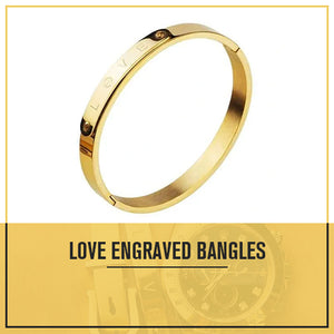 Engraved Love Bangle