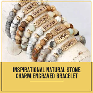 Natural Stone Beads Handmade Charm Personalized Bracelet