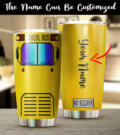 Customized School Bus Tumbler