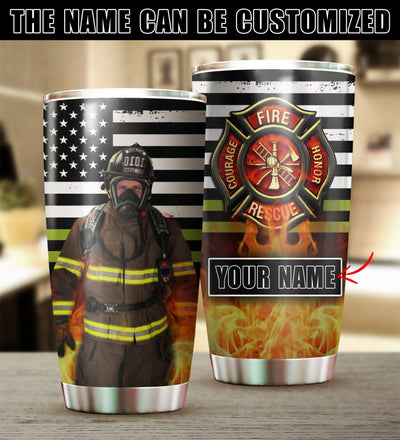 Customized Firefighter Tumbler