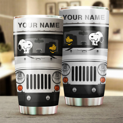 Customized White SNP Tumbler