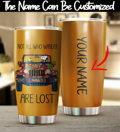 Customized Not All Who Wander Tumbler