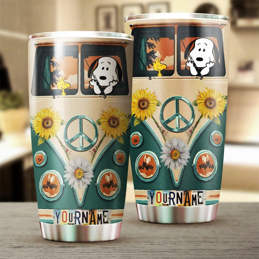 Customized SNP in Floral Van Tumbler