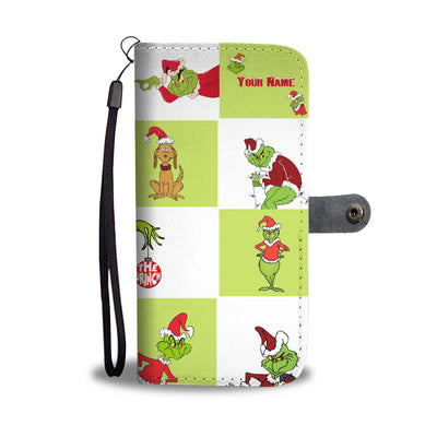 Customized GRC Green Squares Wallet Case
