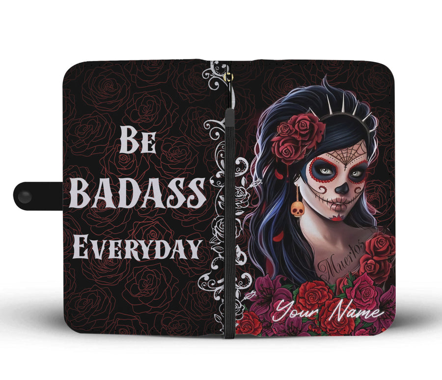Custom Be Badass Girl Wallet Case