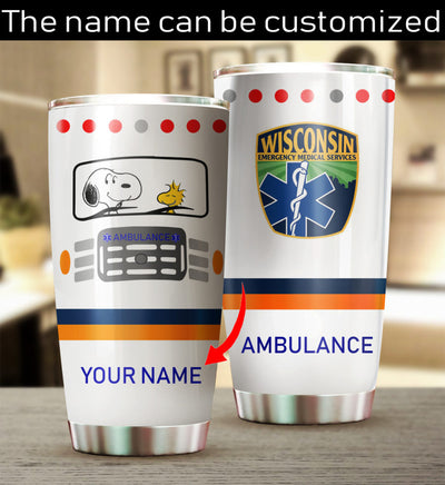 Customized SNP Ambulance Tumbler