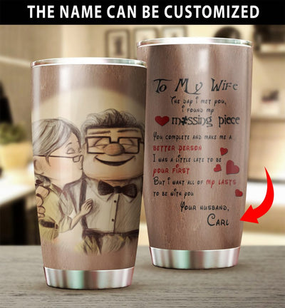 Customized To My Wife Tumbler