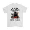 I Sew So I Don't Choke People, Black Cat Meme T-shirt