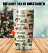 Customized Tractor Xmas Tumbler