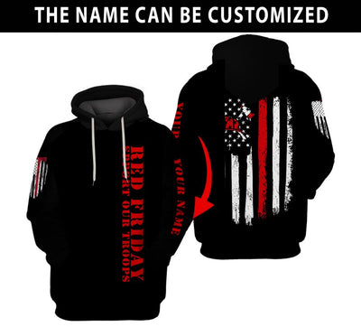 Customized Red Friday Hoodie
