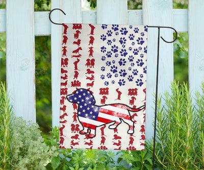 Dachshund Dog America Flag