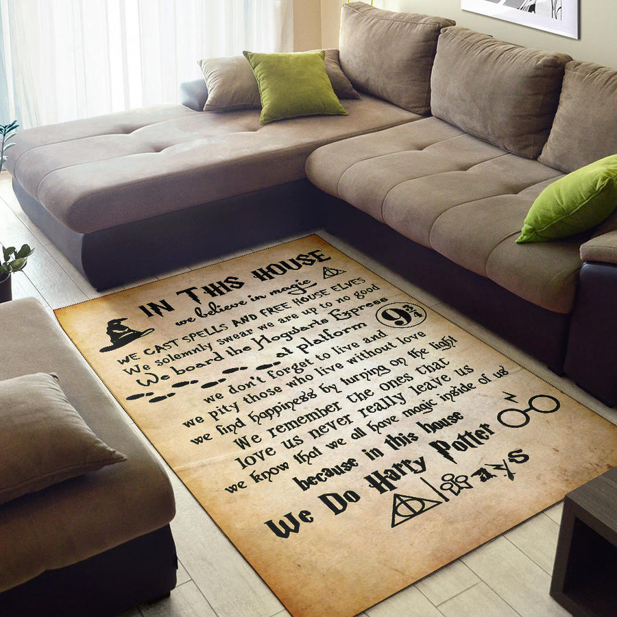 Harry Potter Washable Rug
