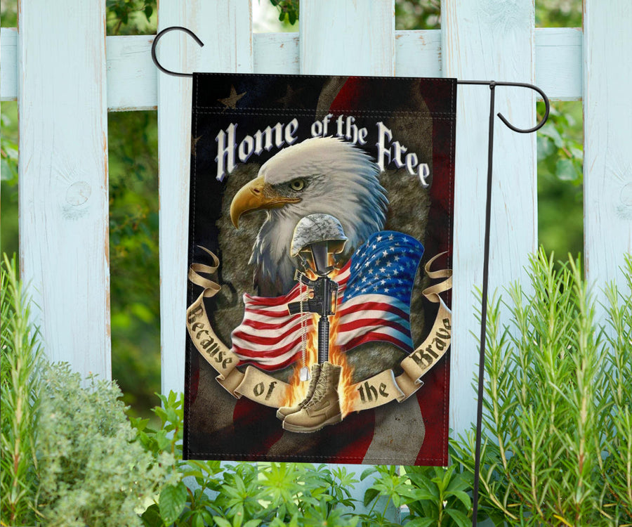 Eagle Home of the Free America Flag