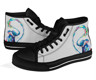 Floral Elephant High Top Shoe