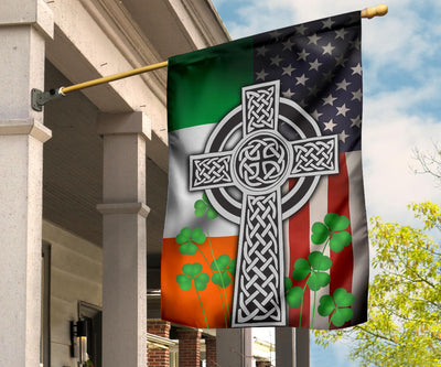 Celtic Irish American Cross Flag
