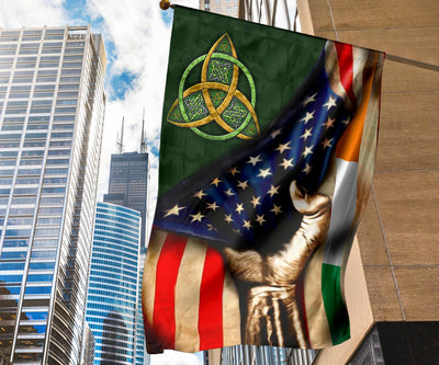 Celtic Symbol Irish USA Flag