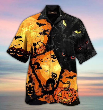 Halloween Cat Hawaii Shirt