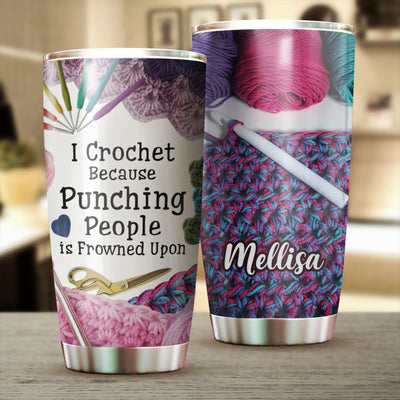 Personalized Crochet Tumbler