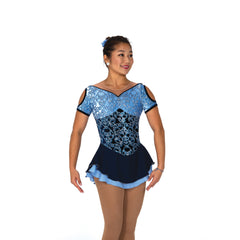 103 Brocade In Blue Dress
