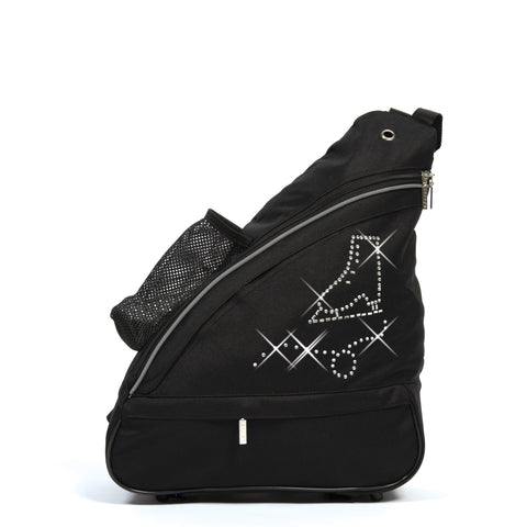 1056 Crystal Skates Shoulder Pack - Black