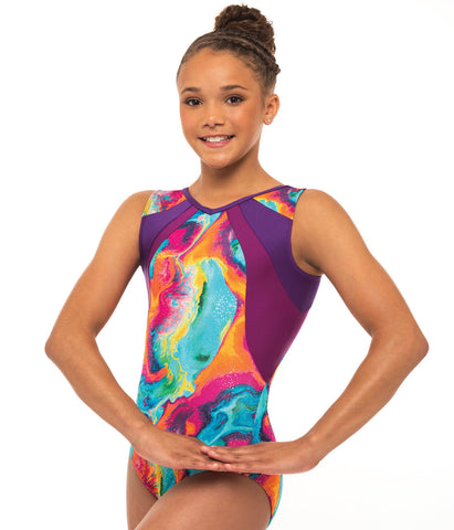 Gymnastics V Neck Sport Tank Leotard
