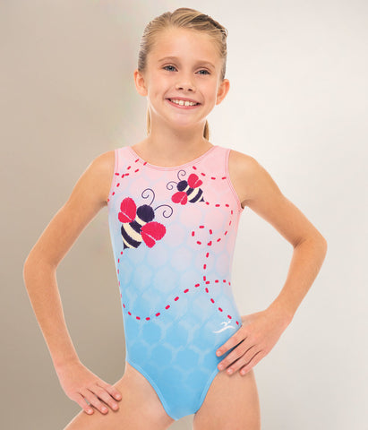 Gymnastics Itty Bitty Bumble Bee Dye Sub Leotard