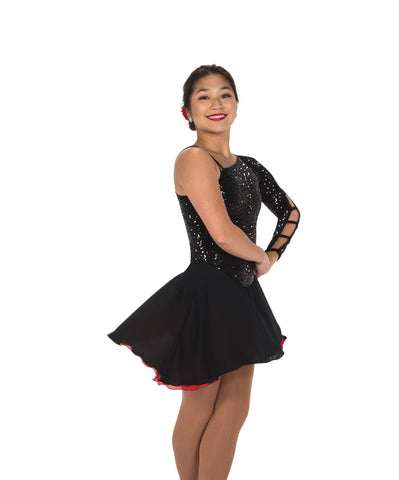 222 Hidden Talents Dress - Black/Red