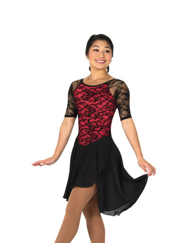 273 Classic Lace Dance Dress - Red