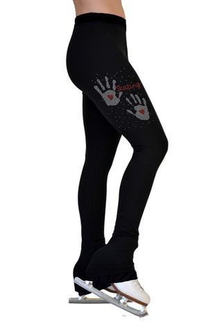 Chloe Noel Red Hands Crystal Leggings|Chloe Noel Leggings avec Rouge Crystals