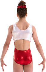 Motionwear Red Open Back Gymnastics Leotard||Motionwear Rouge Maillot Gymnastique Dos Ouvert